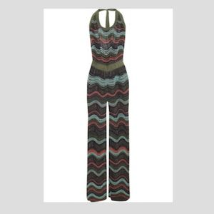 M Missoni Wide Leg Metallic Jumpsuit Size 36 XS